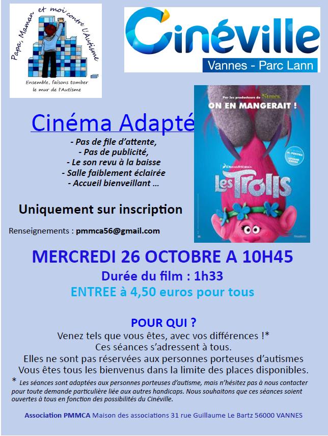 Cinéma Adapté mercredi 26 octobre 2016